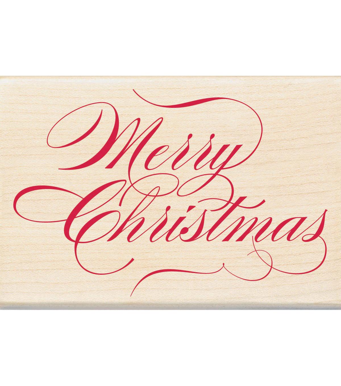 Inkadinkado Christmas Mounted Rubber Stamp Merry Christmas   JOANN