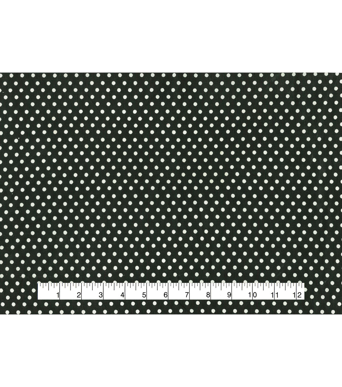 Wide Cotton Fabric-White Dots on Black