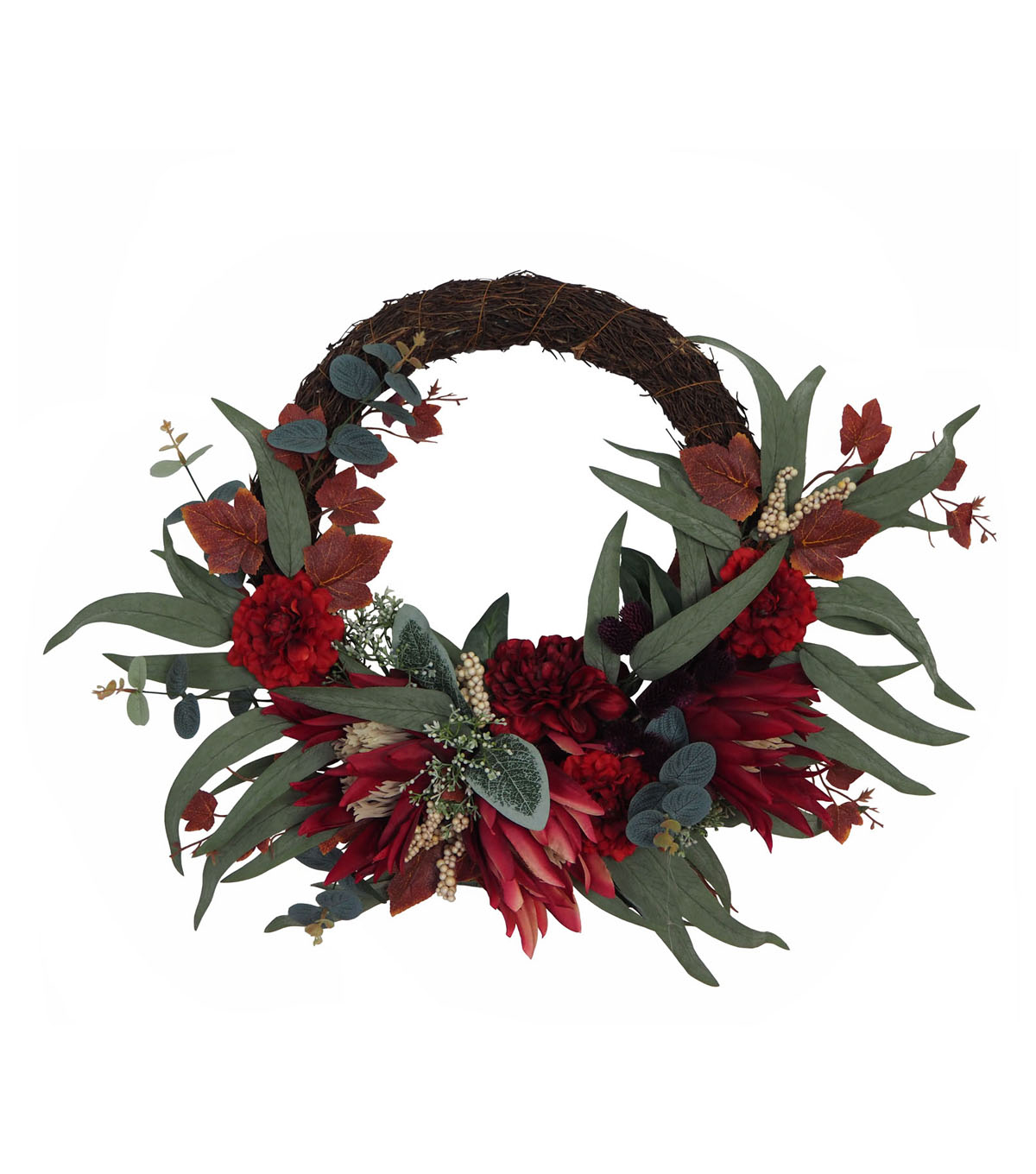 Blooming Autumn Marigold & Berry Wreath