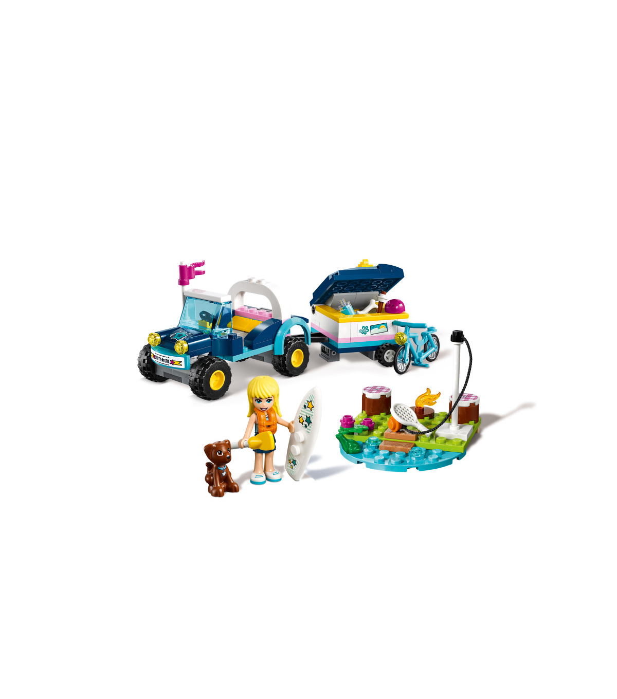 LEGO Friends Stephanie\u0027s Buggy & Trailer Set