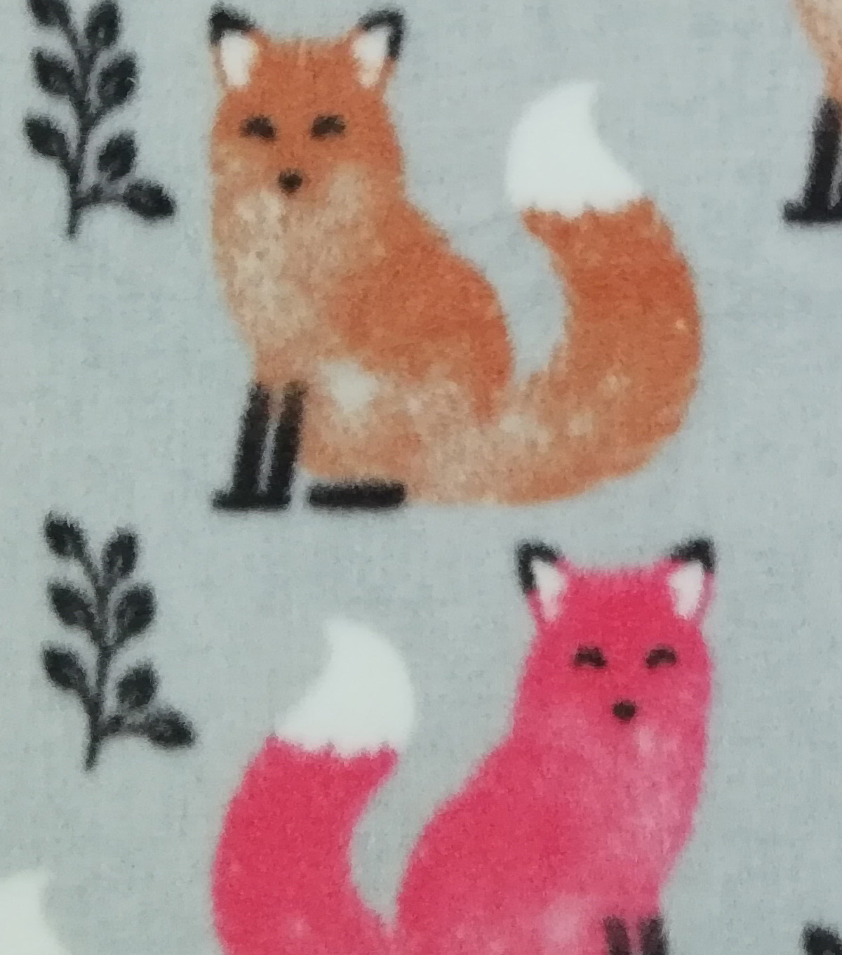 Anti-Pill Plush Fleece Fabric-Elegant Foxes