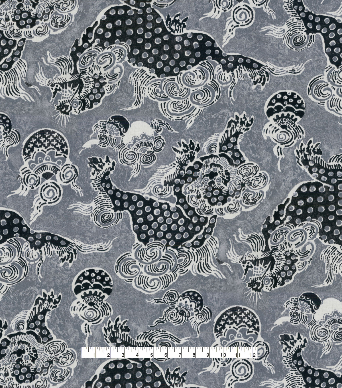 Williamsburg Outdoor Fabric-Dunmore Dragons Onyx