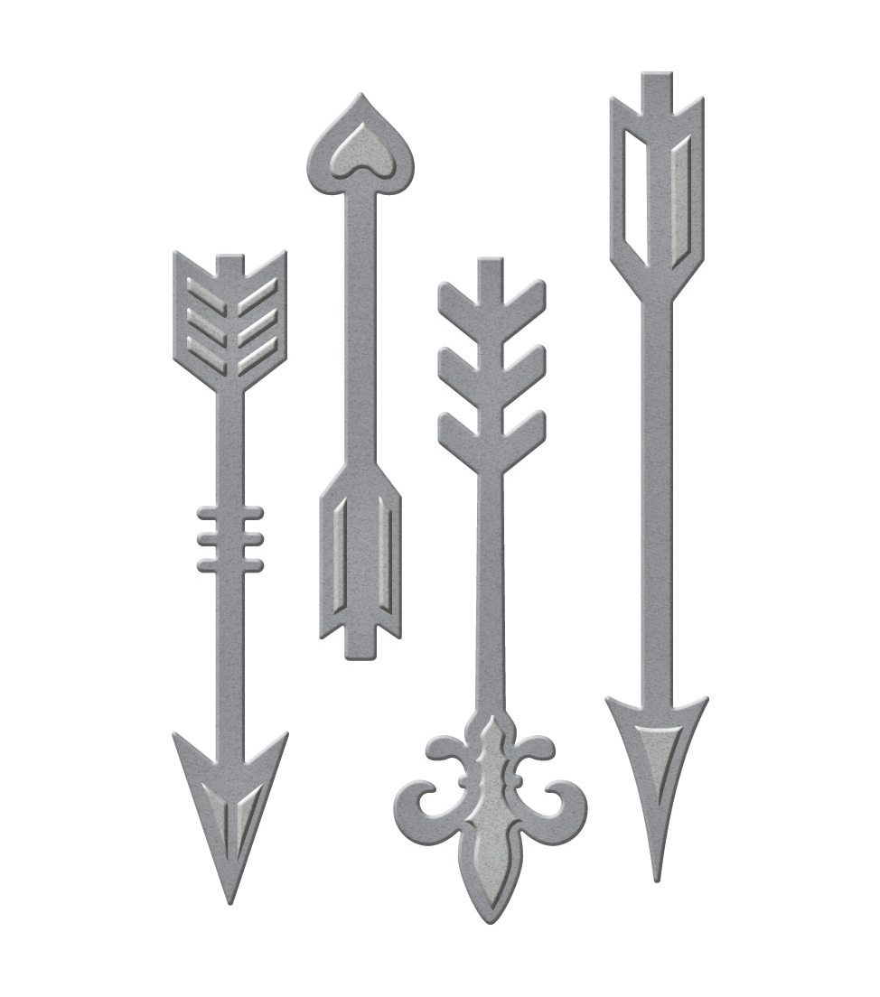 Spellbinders Die D-Lites 4 Pack Etched Dies-Ornate Arrows