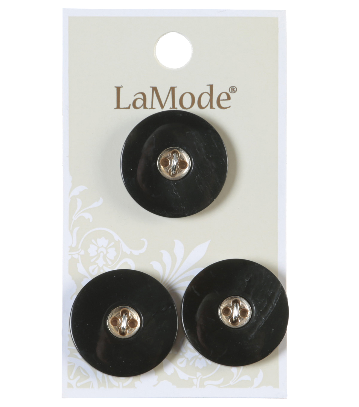 LaMode 4 Hole Grey And Gold Buttons