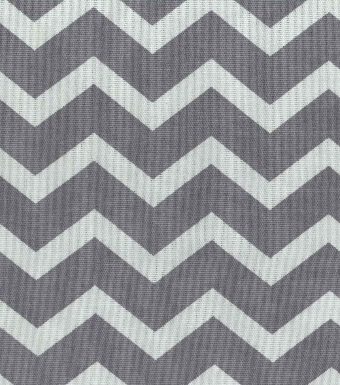 45\'\' Home Essentials Print Fabric- Chevron Grey | JOANN