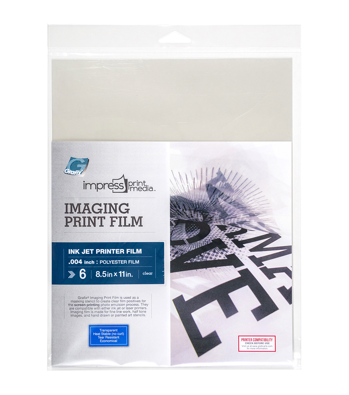 Impress Imaging Ink Jet Print Films 6/Pkg-8.5\u0022X11\u0022