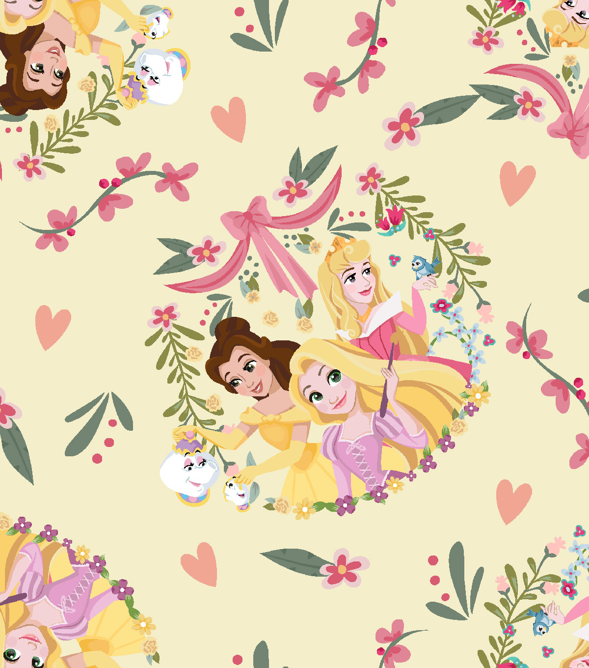 Disney Princess Knit Fabric 58\'\'-Princess Friends | JOANN