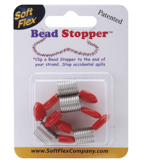 Bead Stoppers 4/Pkg-Plastic Topped Metal
