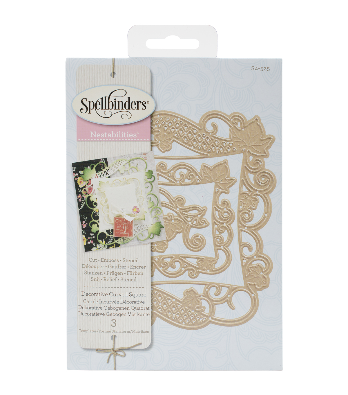 Spellbinders Nestabilities Decorative Elements Dies-Curved Square
