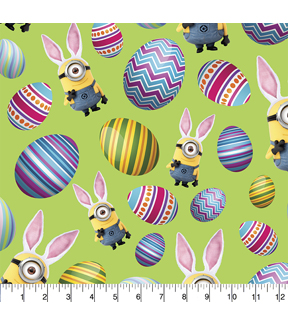 Easter Cotton Fabric -Minions