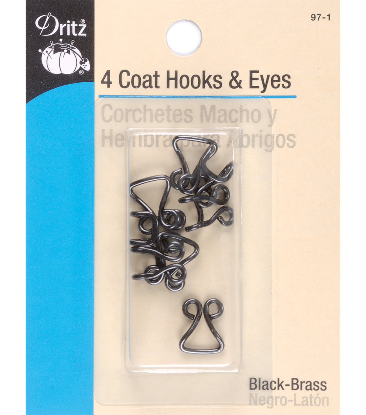 Dritz 0.38\u0027\u0027 Coat Hook &Eye 4pcs