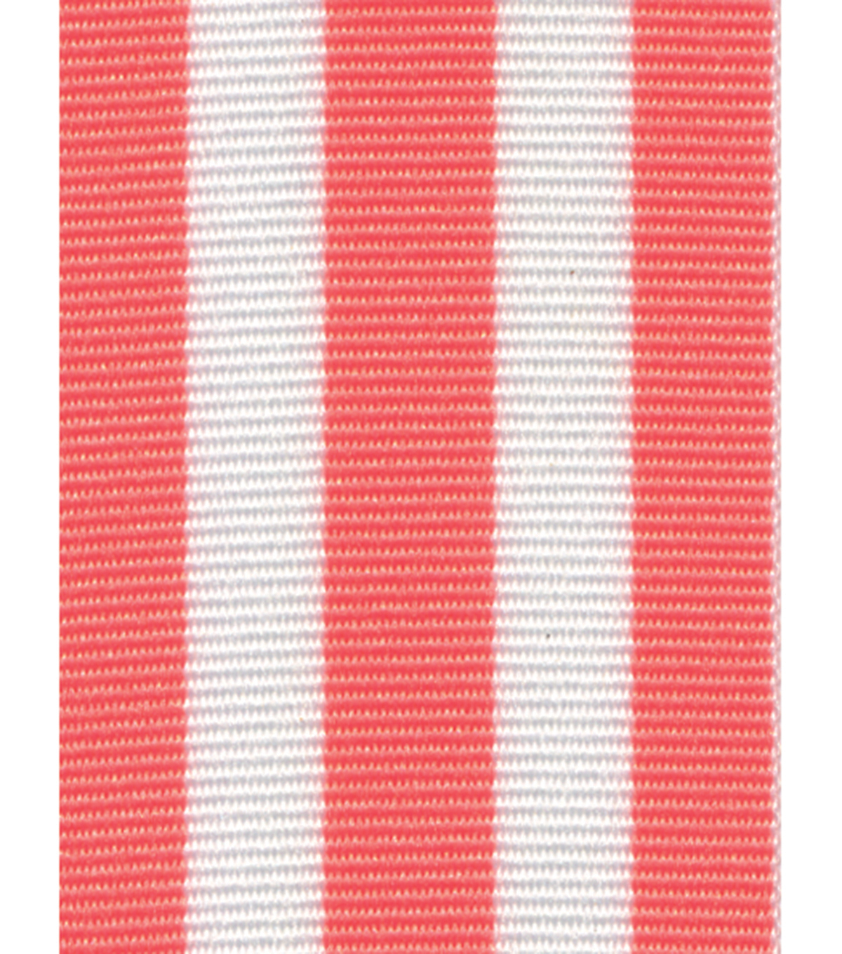 Offray Woven Ribbon 1.5\u0027\u0027x9\u0027-White & Coral Stripes