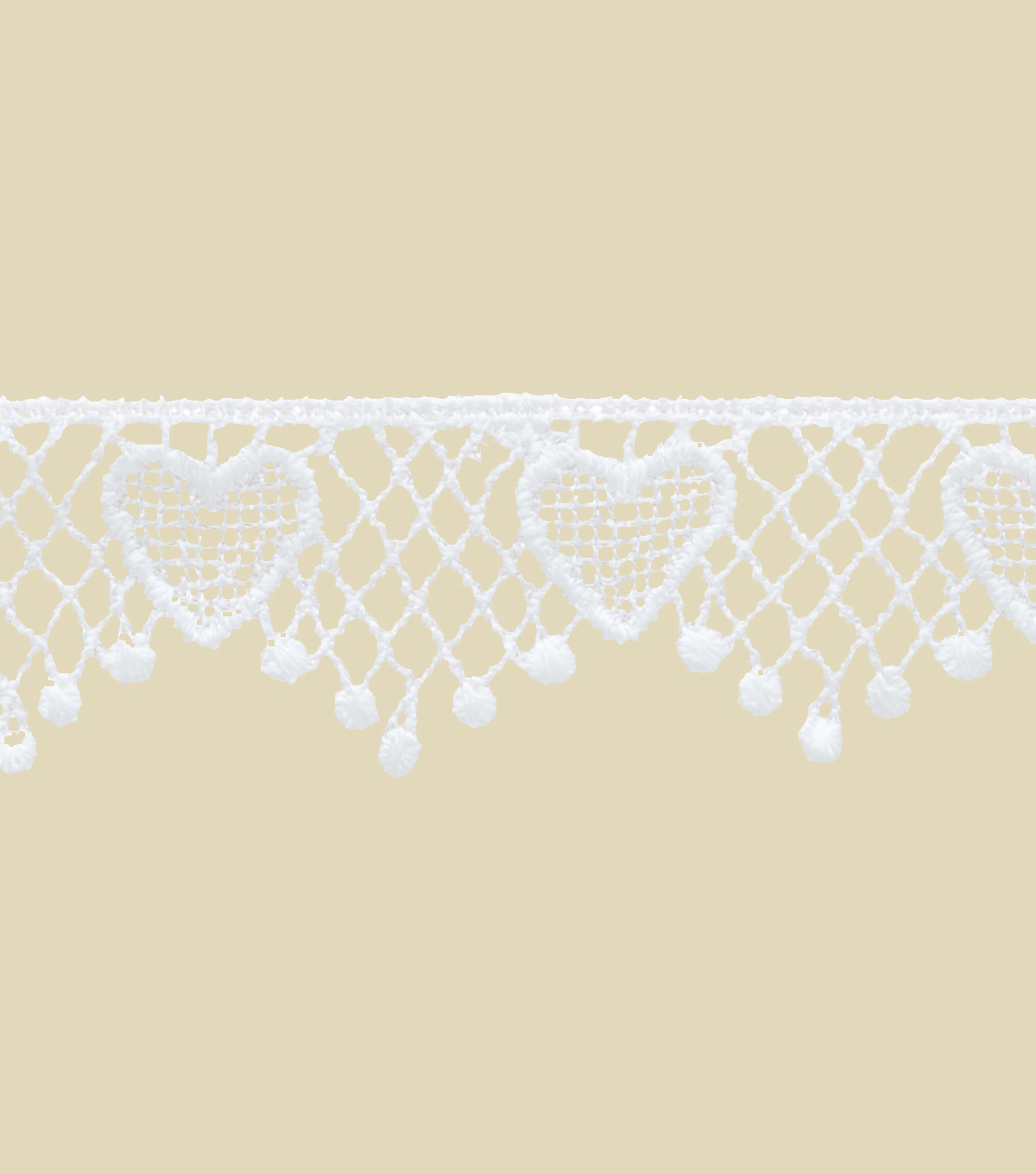 1\u0022 White Heart Apparel Trim