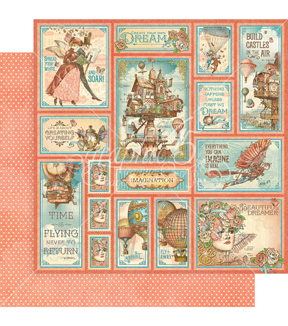 Imagine Double-Sided Cardstock 12\u0022X12\u0022-Castles In The Air