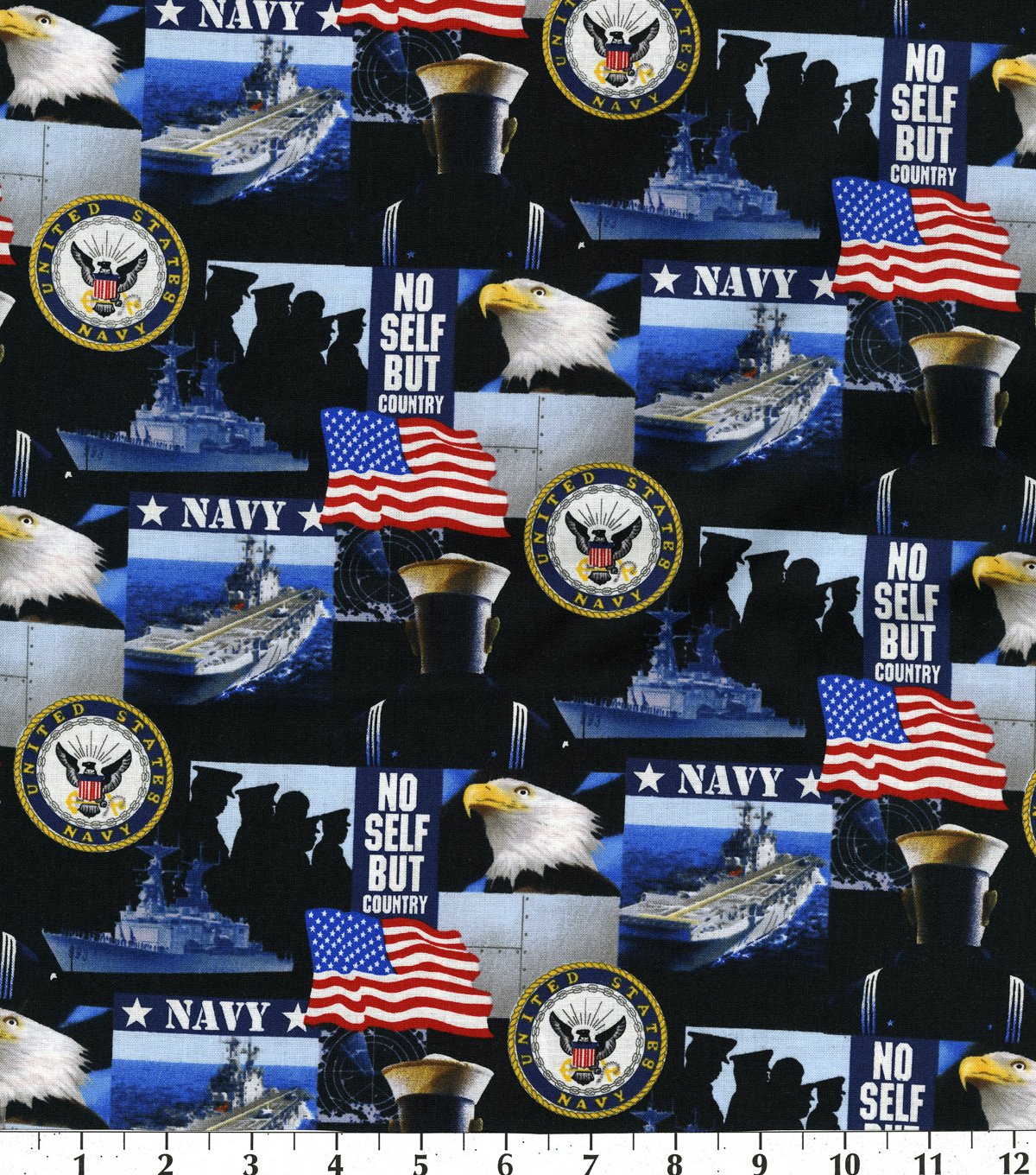 United States Navy Cotton Fabric 43\u0022-Allover