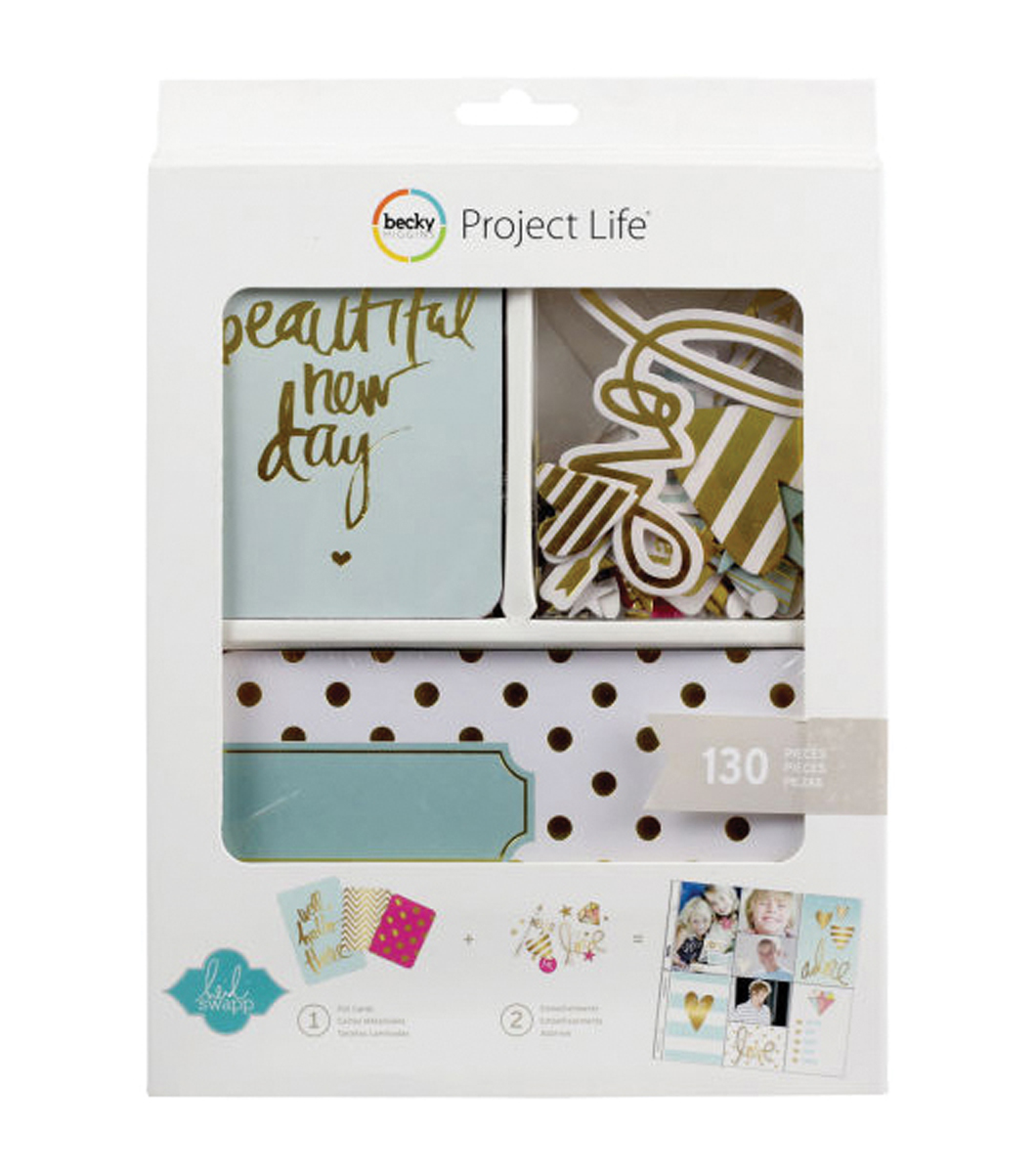 Project Life Mini Kit-Heidi Swapp -Gold Foil