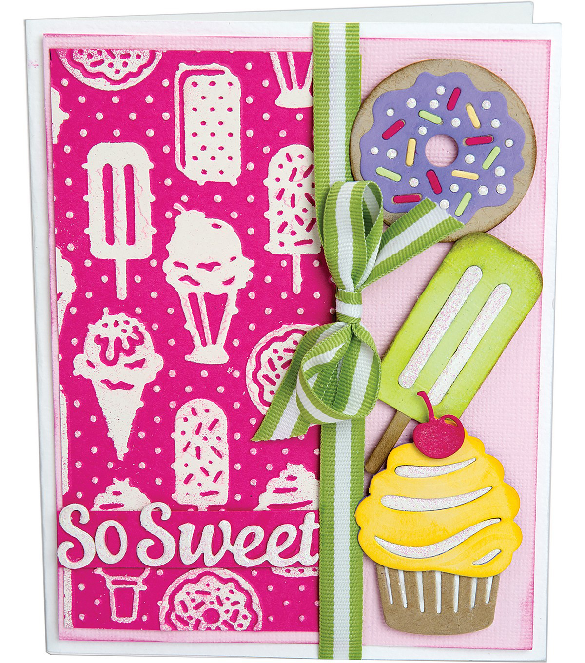 Sizzix Thinlits Courtney Chilson Dies with Embossing Folder-Sweet Treats