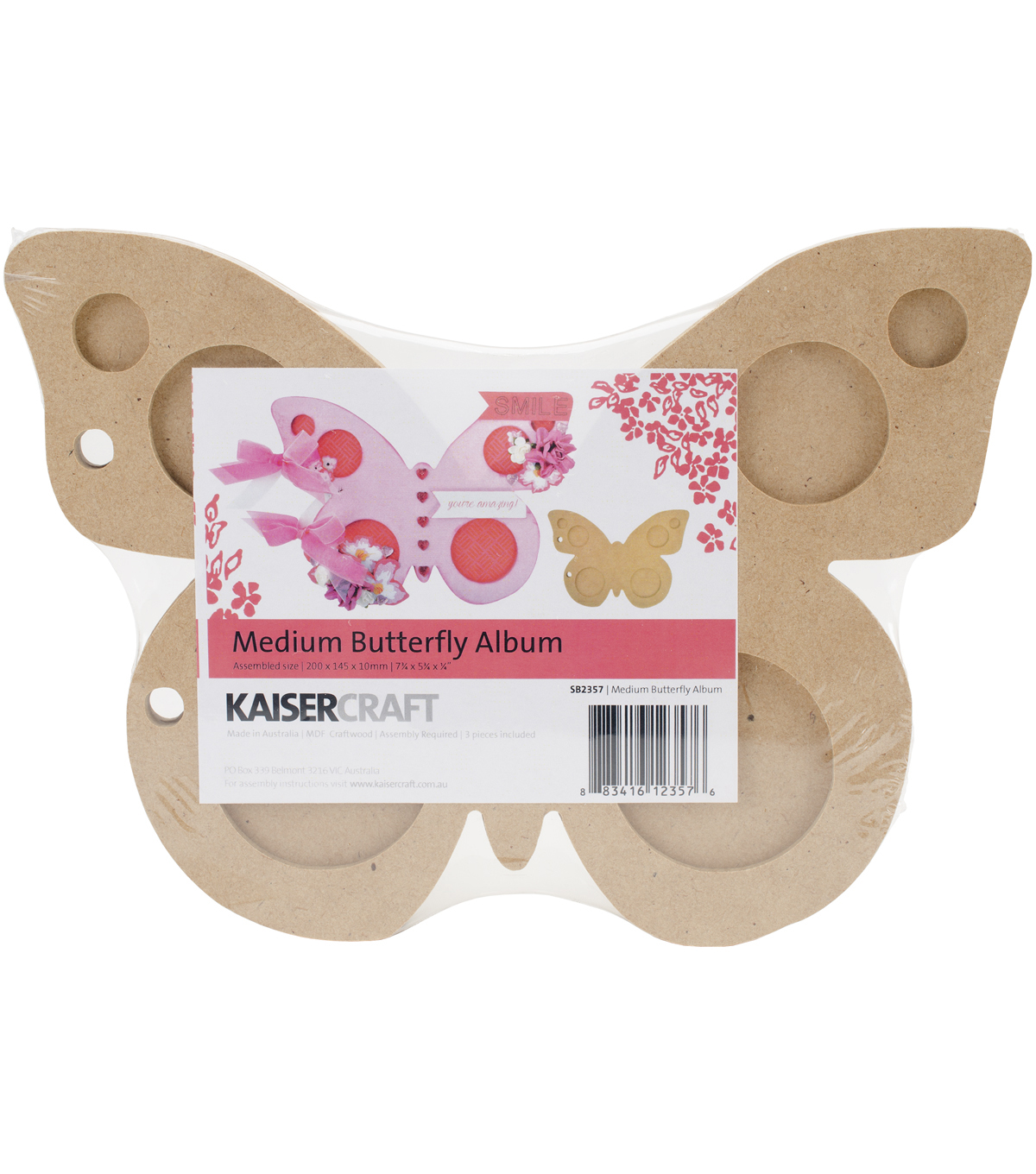 Kaisercraft Beyond The Page MDF Butterfly Album
