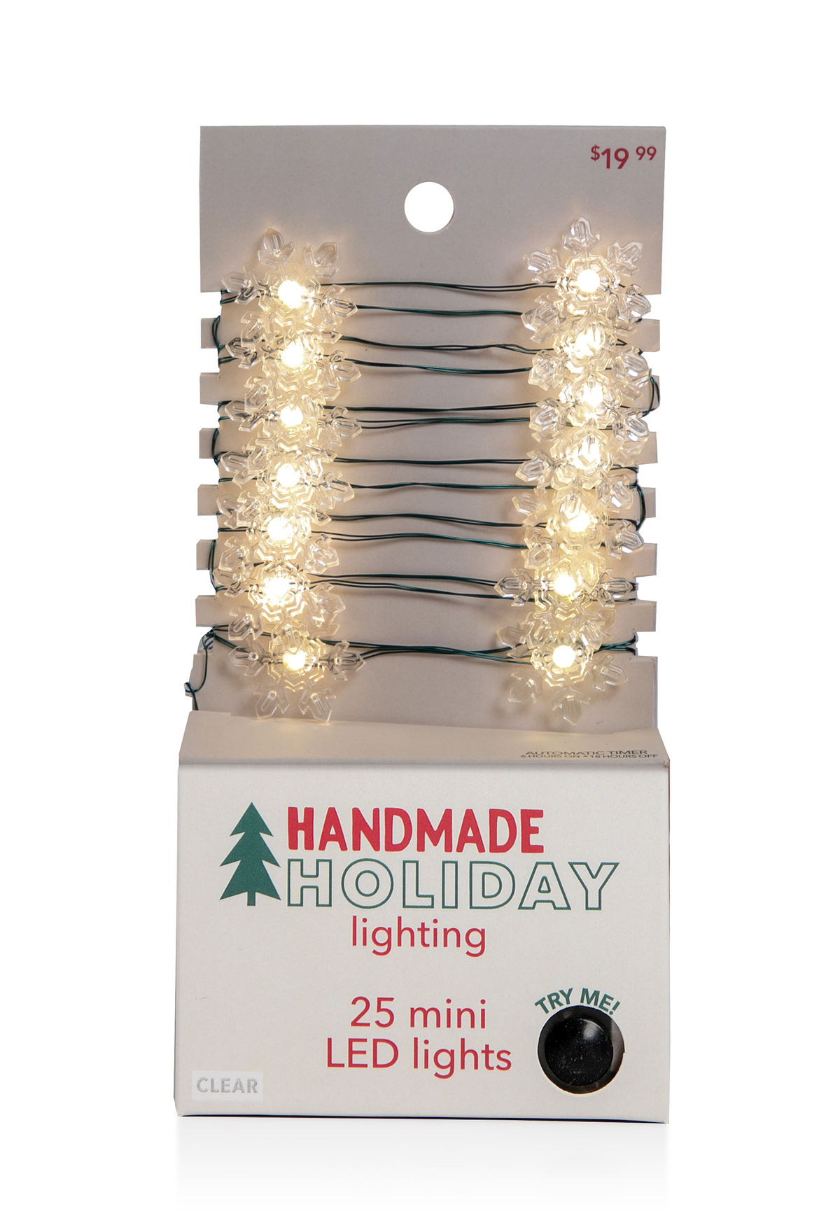 Handmade Holiday Lighting Christmas Snowflake LED Clear Light Strand