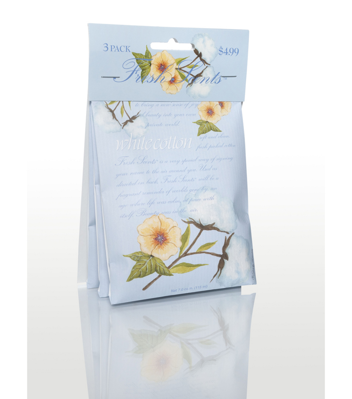 3 Pack Whte Cotton Sachet