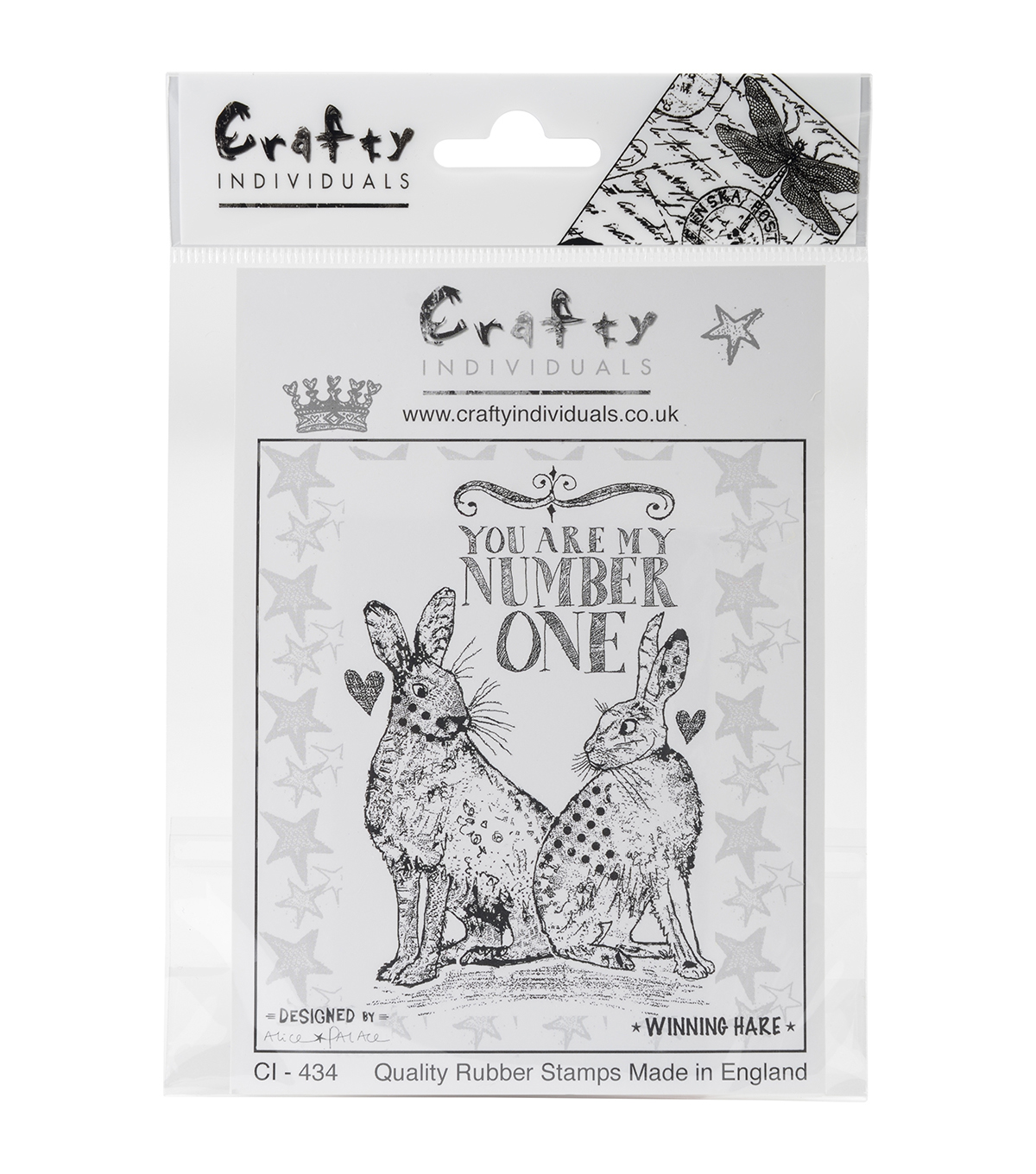 Crafty Individuals Unmounted Rubber Stamp-Winning Hare