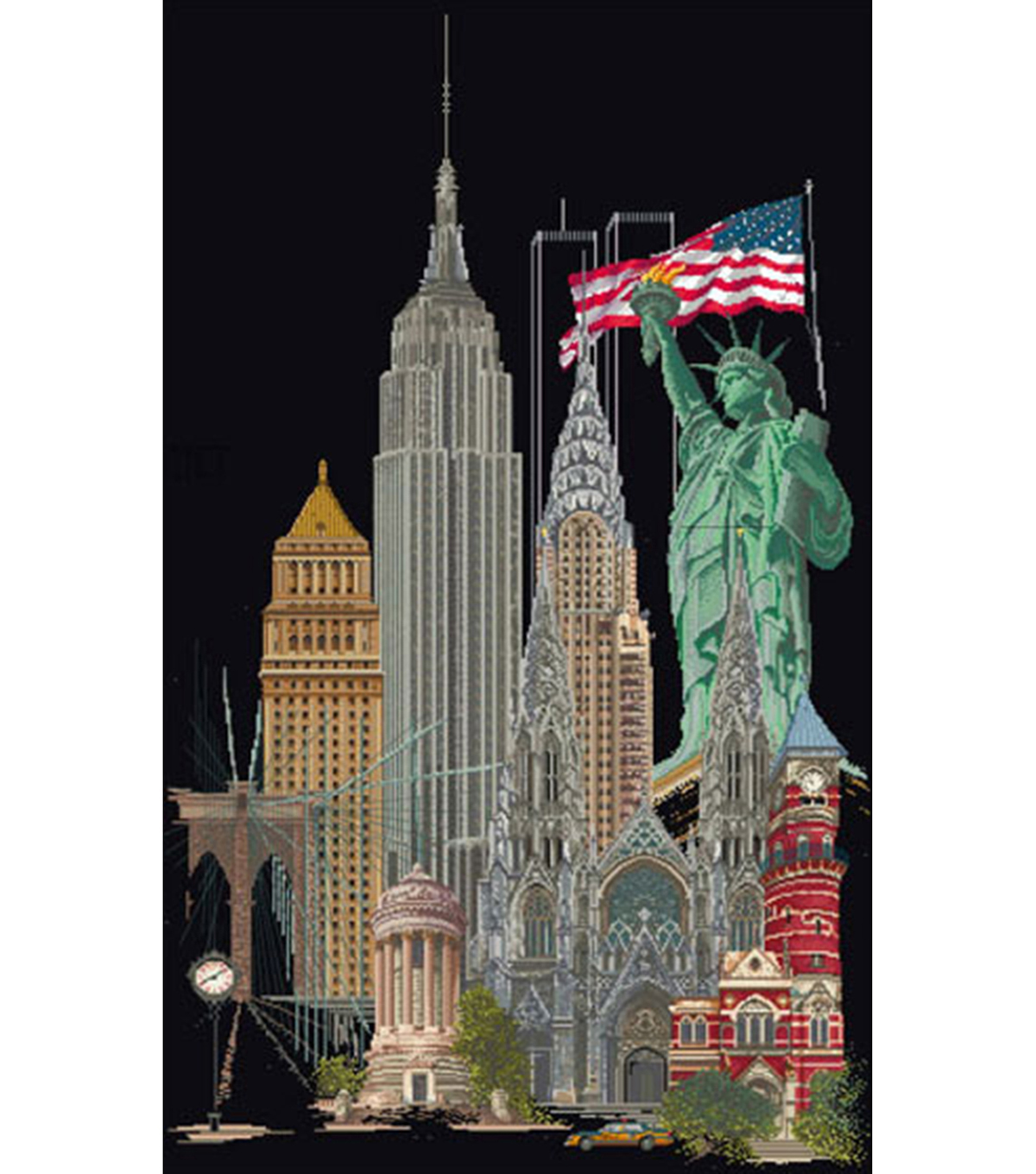 New York On Aida Counted Cross Stitch Kit 18 Count