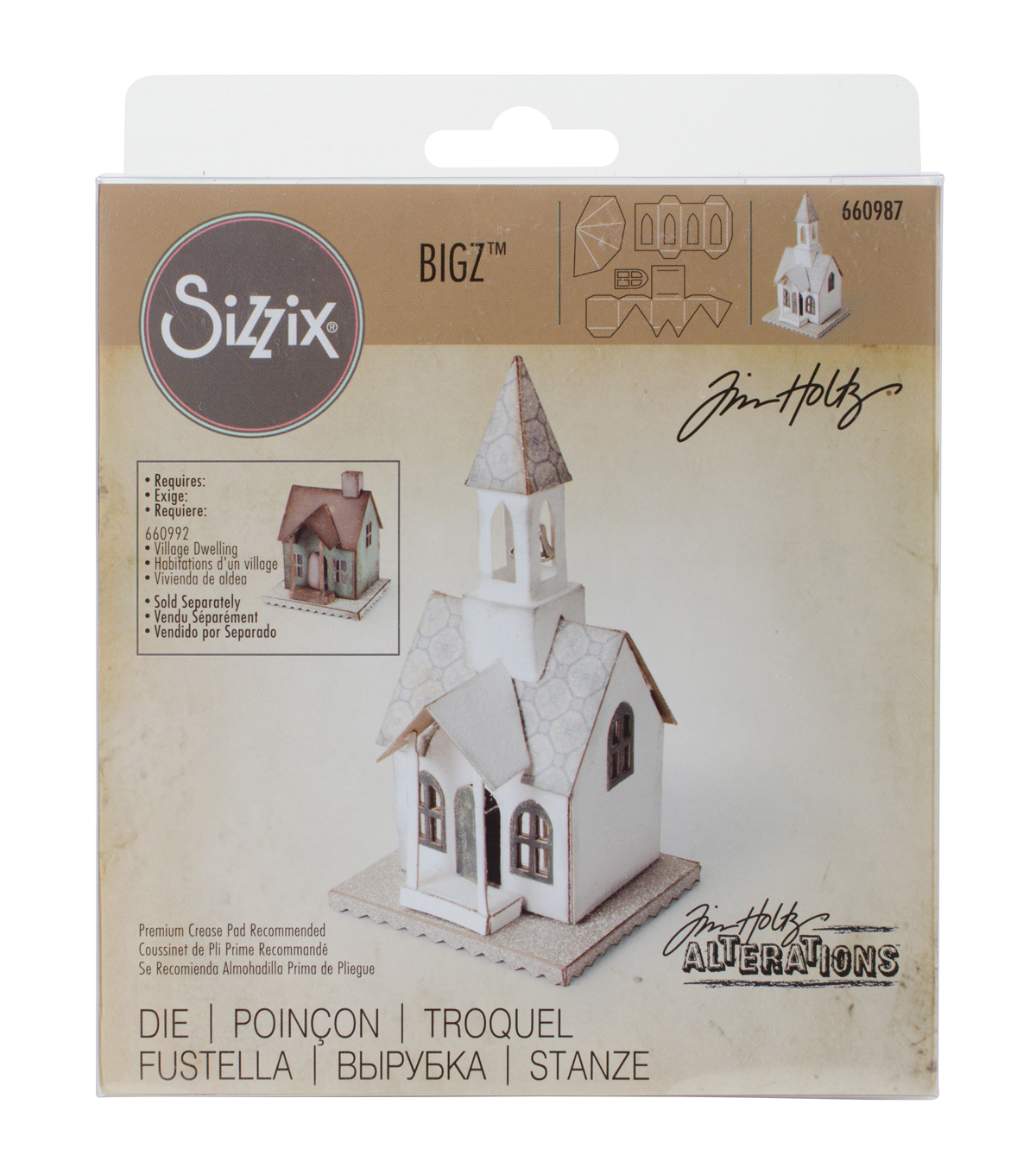 Sizzix Bigz Die-Village Bell Tower