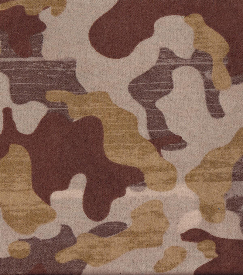 Snuggle Flannel Fabric 42\u0022-Brown Camo