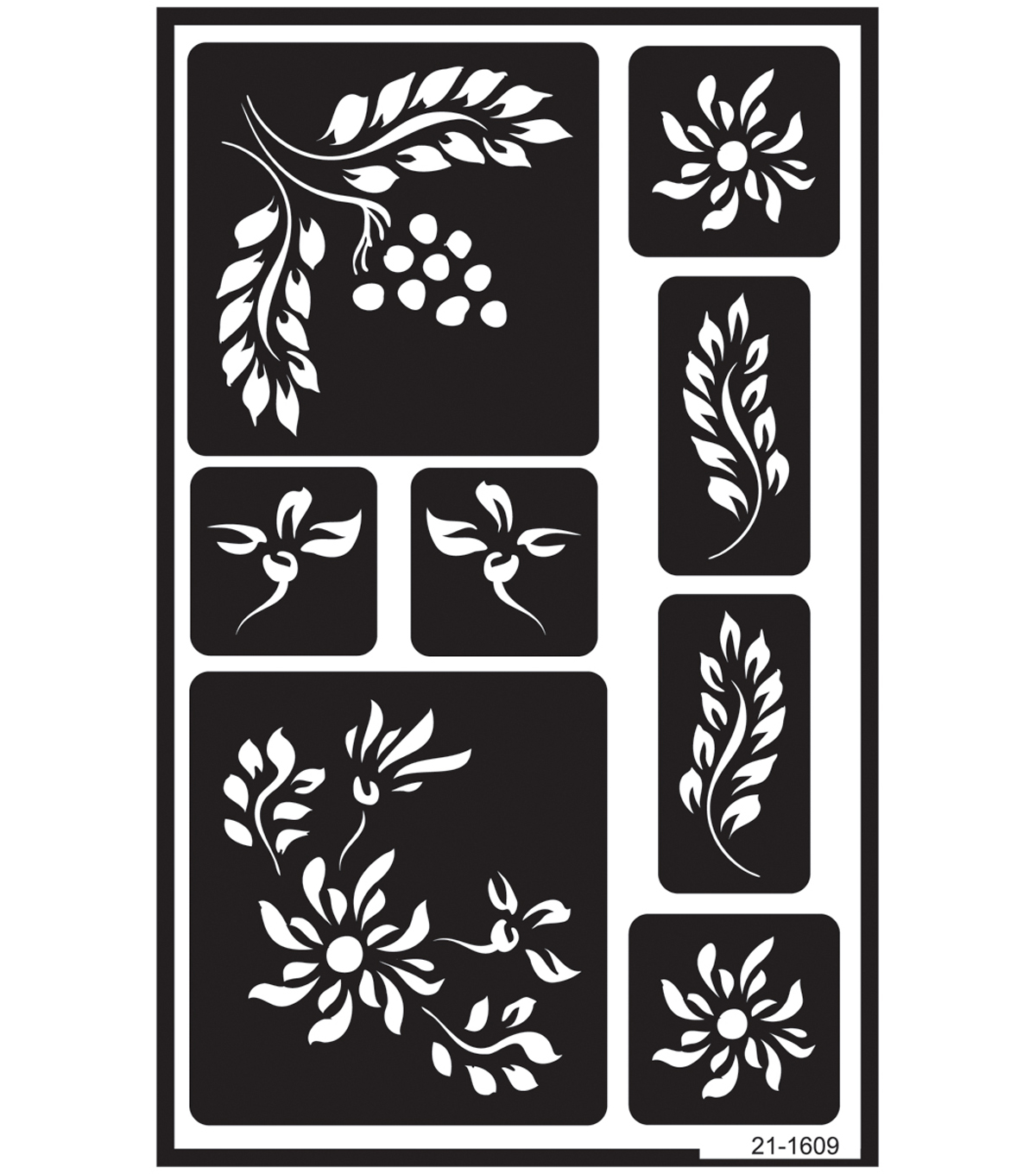 Armour Products Over \u0027N\u0027 Over 5\u0027\u0027x8\u0027\u0027 Reusable Stencil-Berries