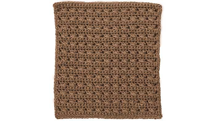 Crochet Cross-Stitched Square