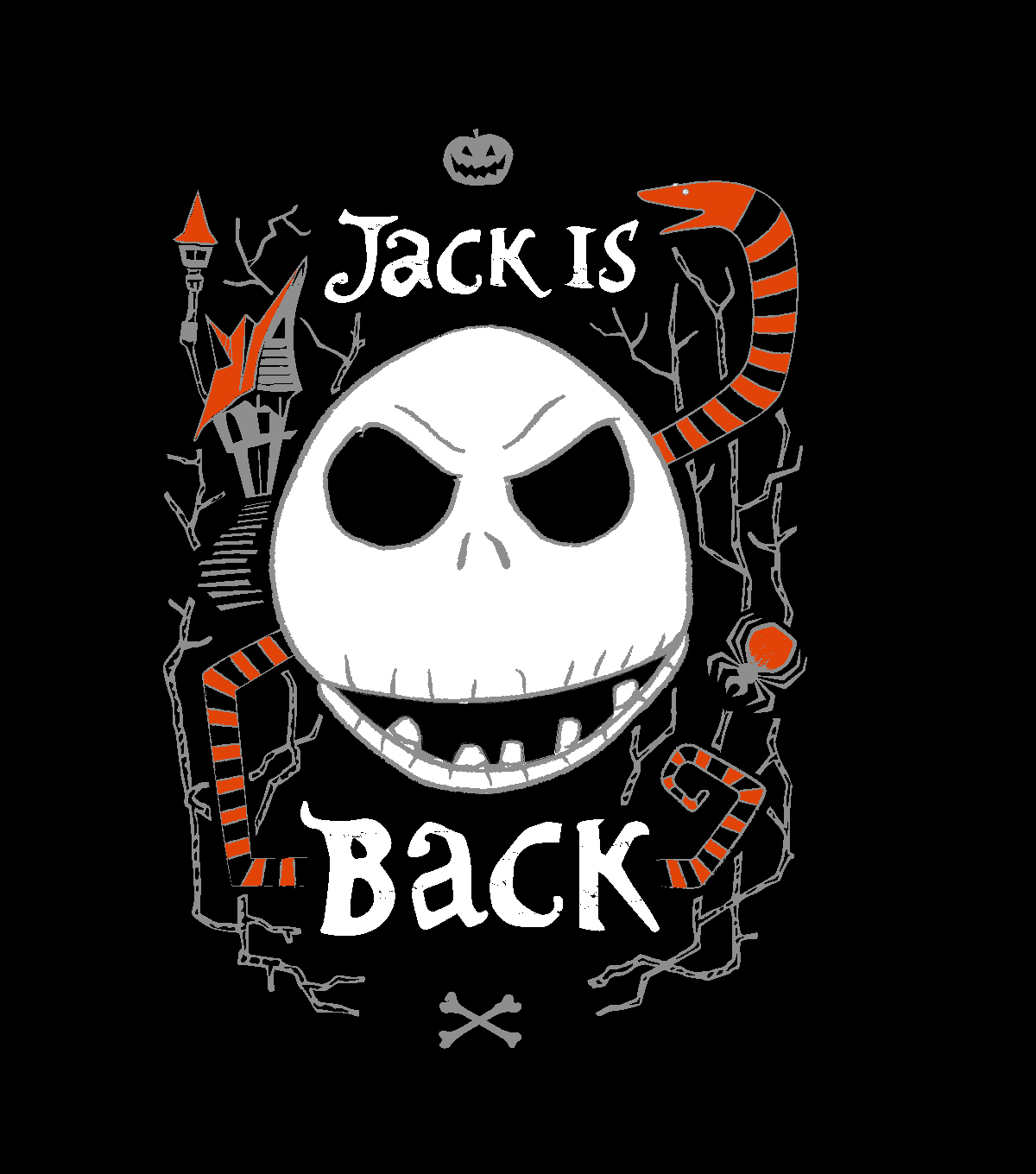 Nightmare Before Christmas No Sew Fleece Throw Fabric Jack Is Back