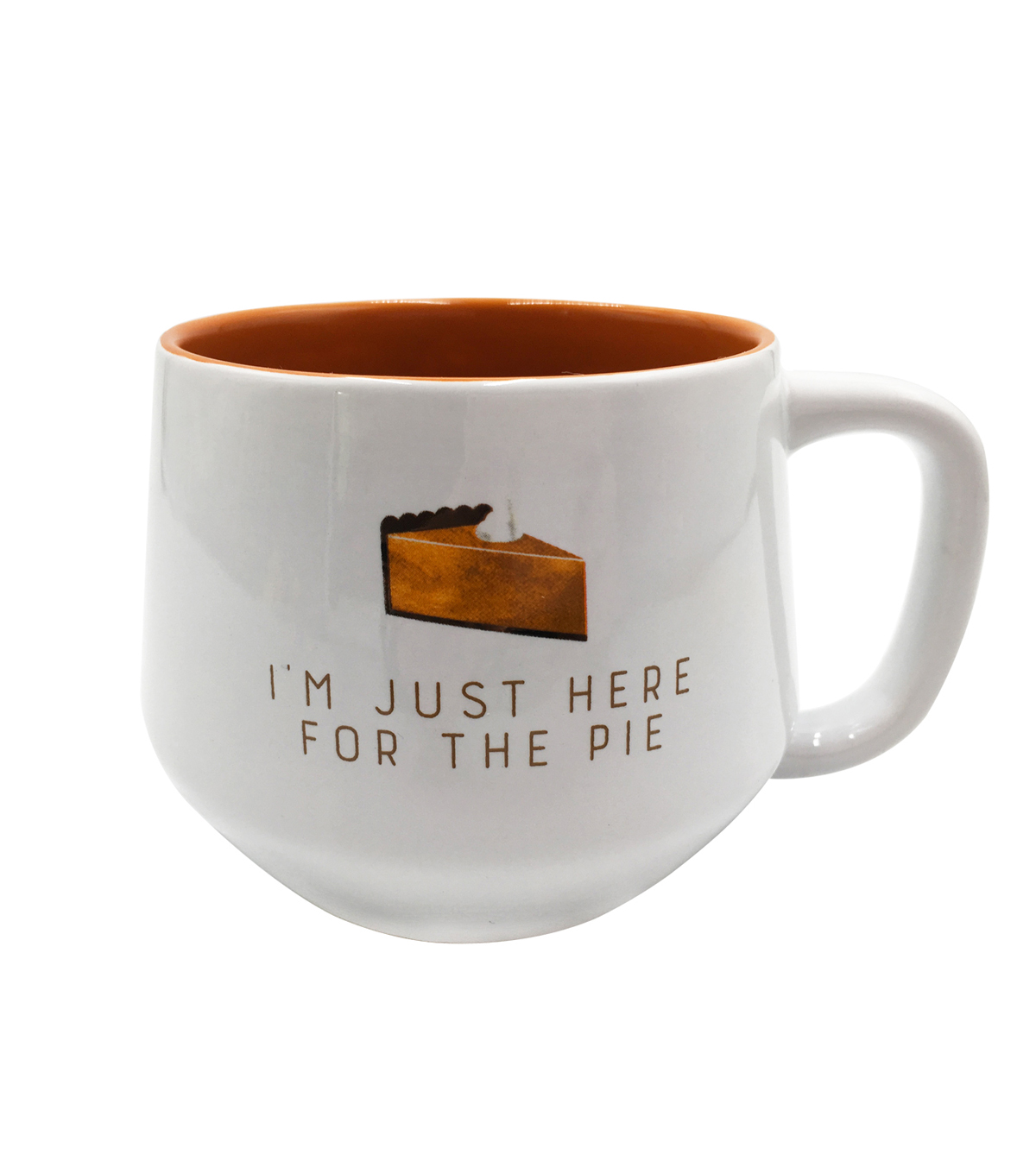 Simply Autumn 16 oz. Mug-I\u0027m Just Here for the Pie on White