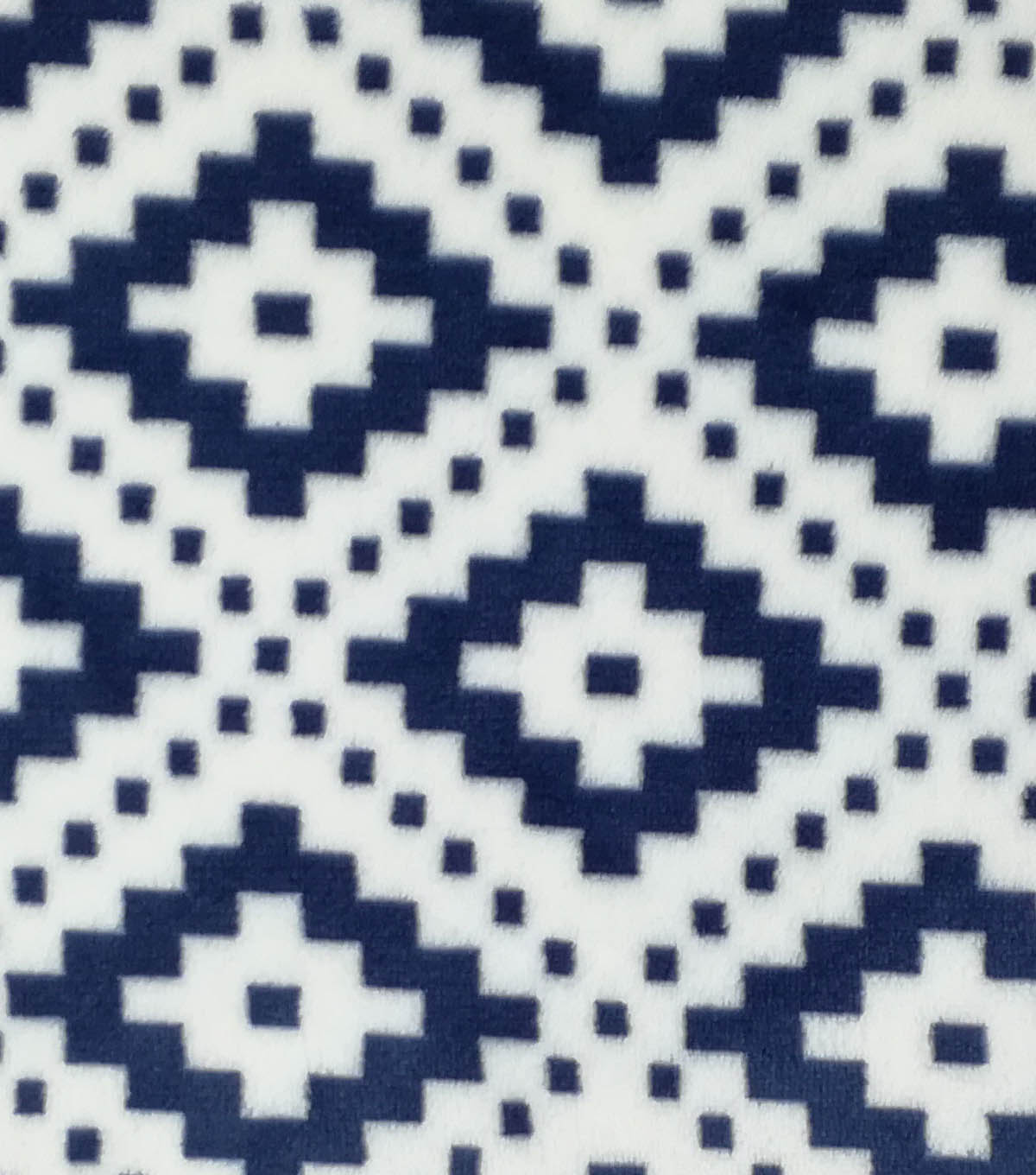 Sew Lush Fleece Fabric -Navy Geometrics