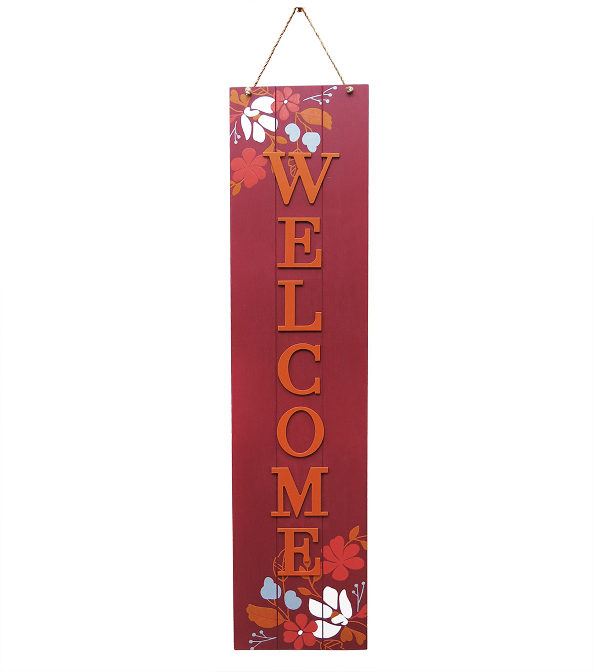 Simply Autumn Burgundy Welcome Porch Sign