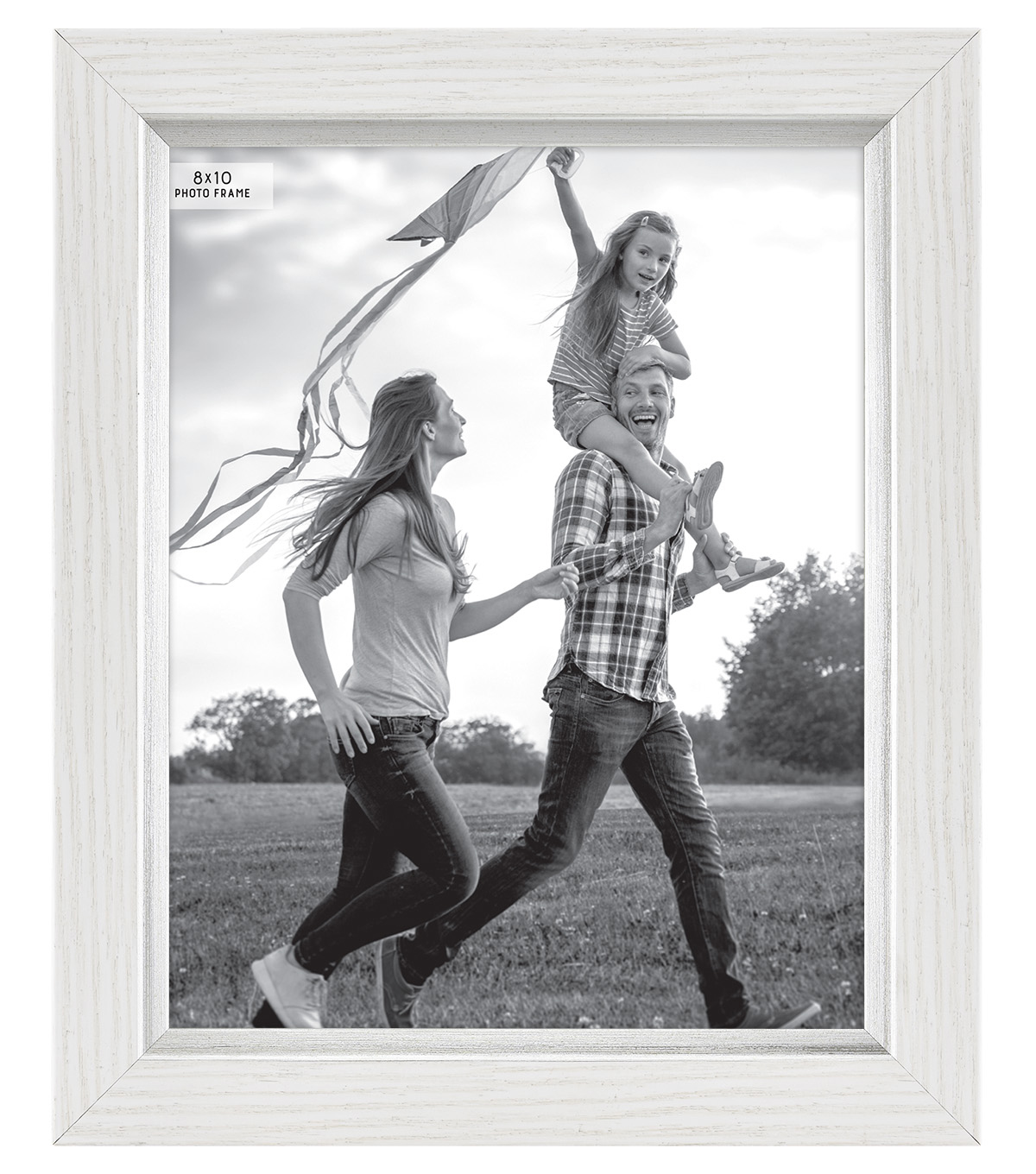 Plastic & Glass Picture Frame 8\'\'x10\'\'-White with Silver Accent | JOANN