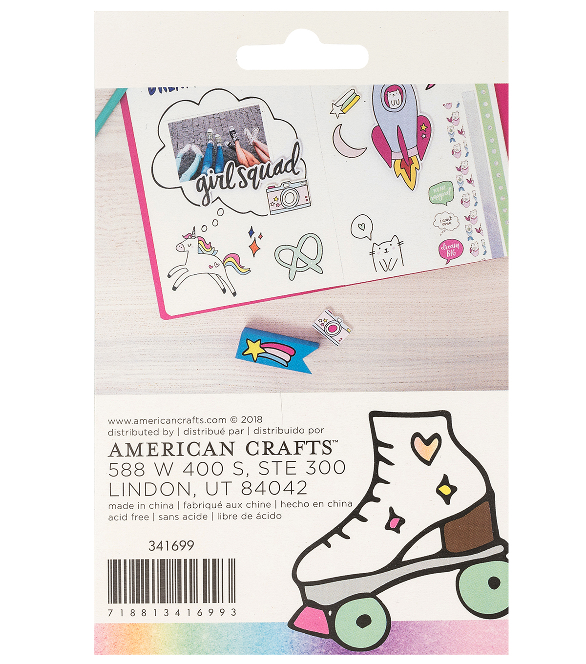 American Crafts Hello Dreamer 5 pk Sticky Notes Pads