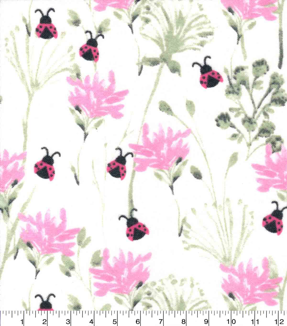 Nursery Flannel Fabric-Hazel Stem Floral