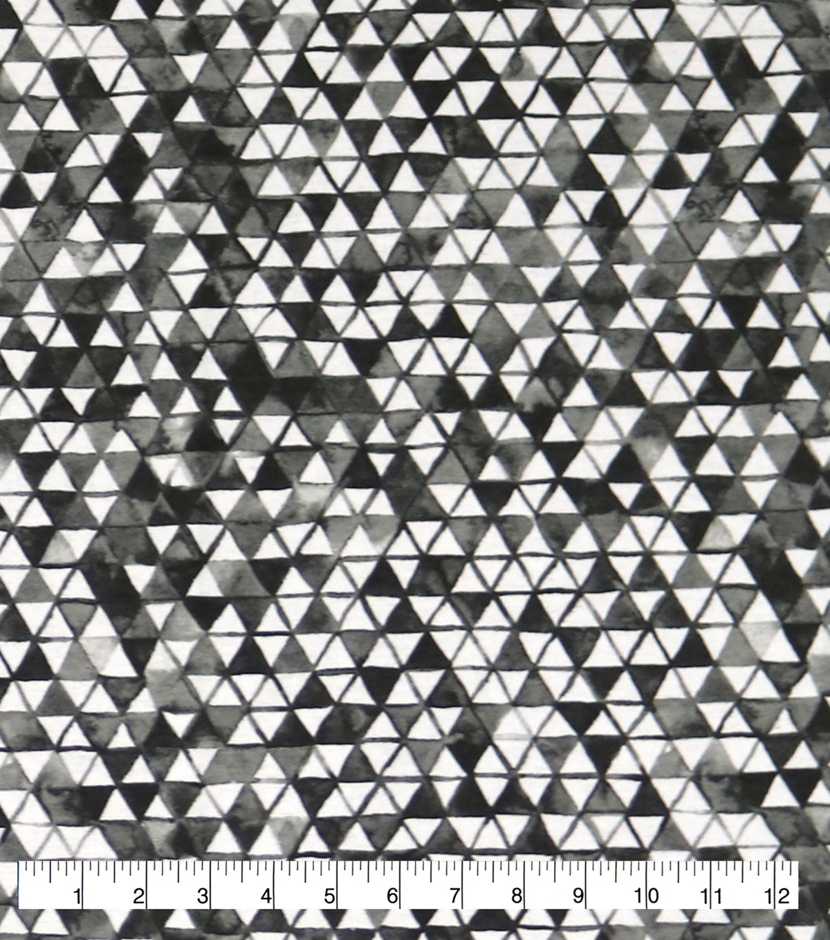 Wide Flannel Fabric-Black & White Triangles