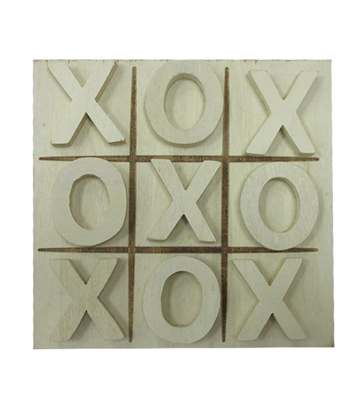 Unfinished Wood Tic Tac Toe Game