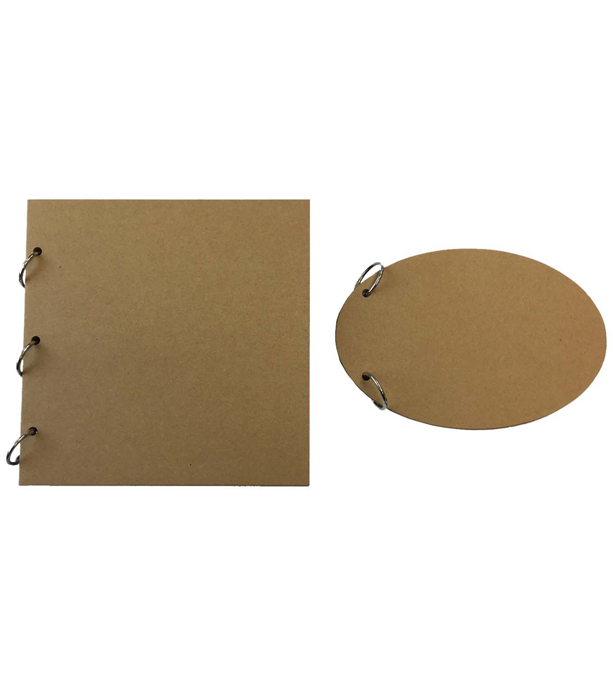 Park Lane Chipboard Craft Album-Square Oval