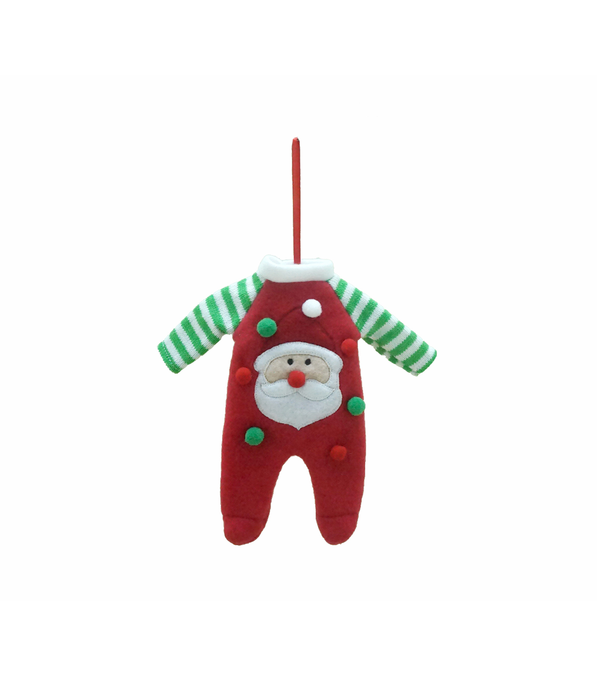 Maker\u0027s Holiday Christmas Whimsy Workshop Santa Jammies Ornament
