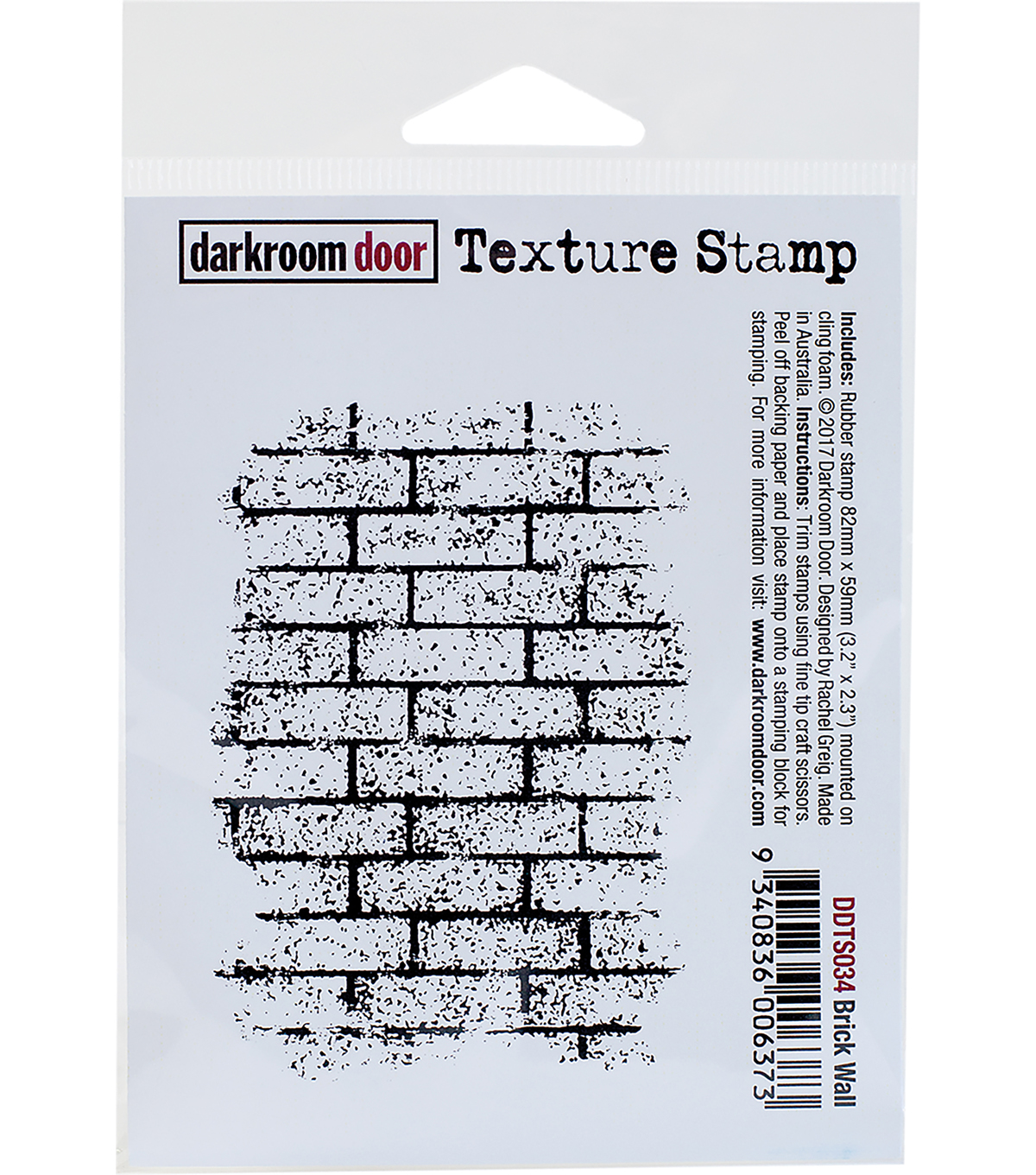 Darkroom Door Texture Cling Stamp 3\u0022X2\u0022-Brick Wall