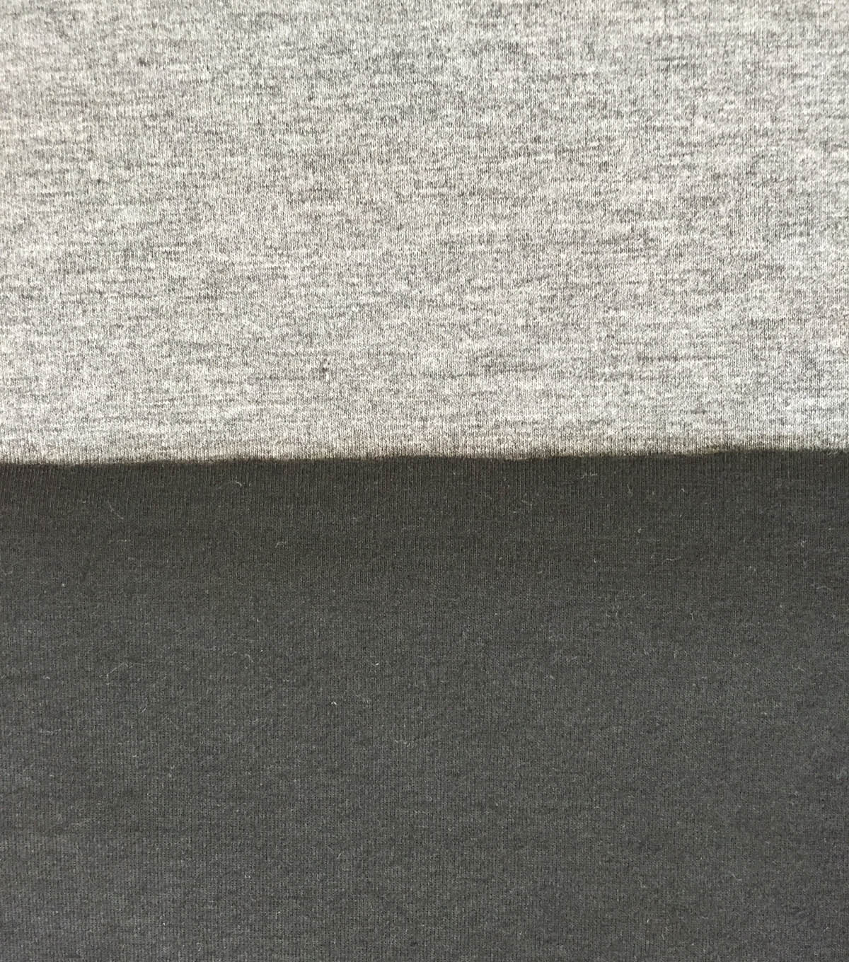 Reversible Knit Fabric -Grey & Black