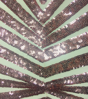 Casa Embellish Gardenia Sequin Fabric 49\u0027\u0027-Glitz Peach & Diamonds on Nude
