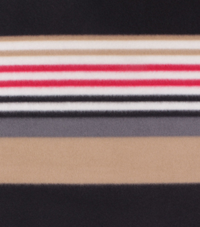 Blizzard Fleece Fabric 59\u0022-Classic Brown & Black Stripe