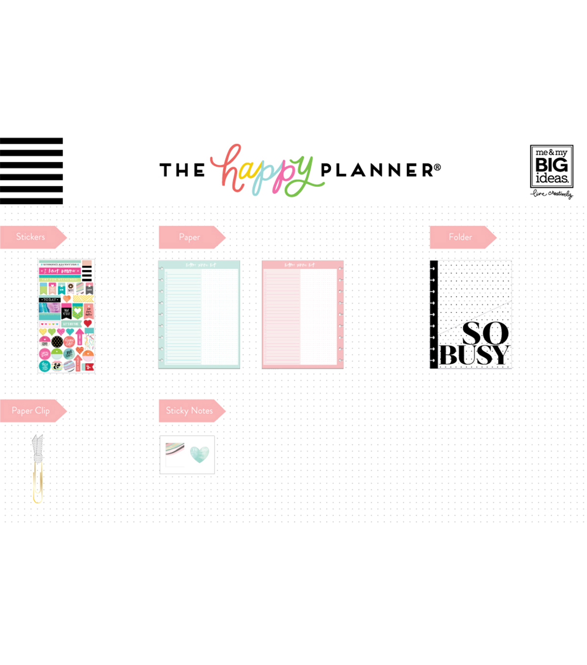 The Happy Planner Classic Accessory Pack-Happy Life