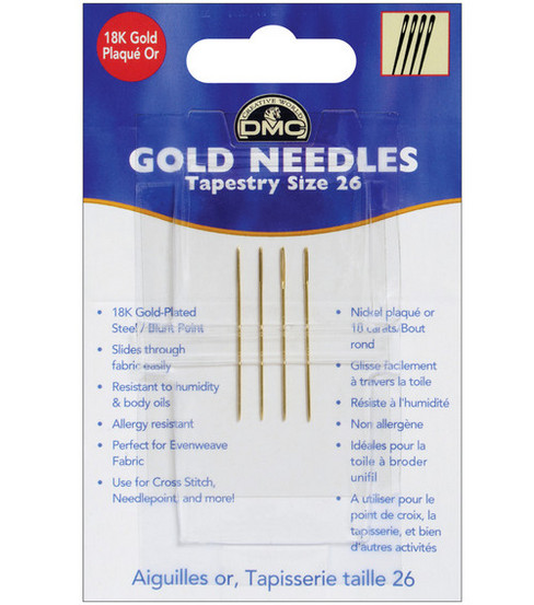 DMC Gold Tapestry Hand Needles-Size 26 4/Pkg
