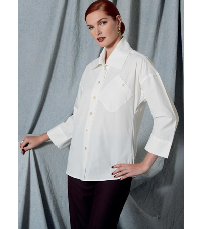 Vogue Pattern V1526 Misses\u0027 Jacket, Shirt & Straight-Leg Pants-Size 6-14