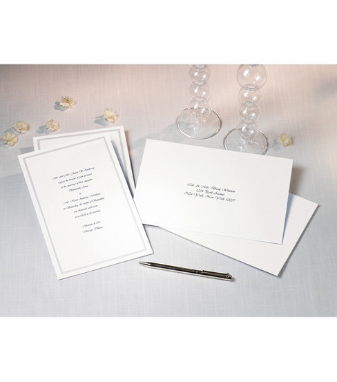 Wilton 100ct Single Border Invitation Kit White