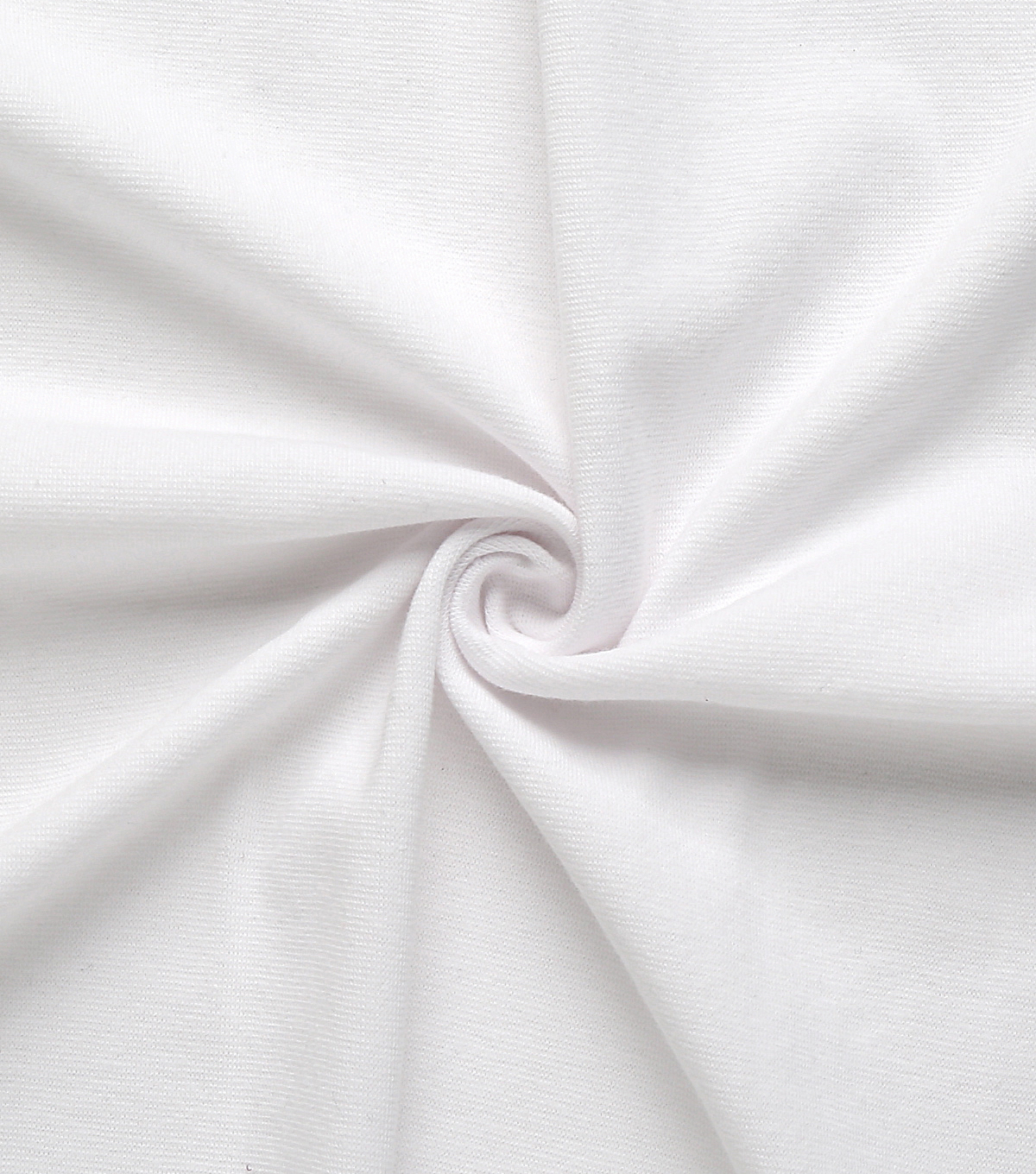 Rib Knit 1x1 Fabric-White